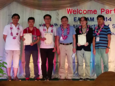 Mathematics PhD student was awarded Second Student Paper Prize from East Asia section of SIAM (EASIAM)