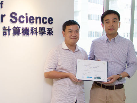 Coauthored paper by Computer Science scholar and student wins Best Paper award at international conference
